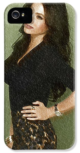 Shakira iPhone 5s Case - Celebrity Sofia Vergara  by Elizabeth Simon
