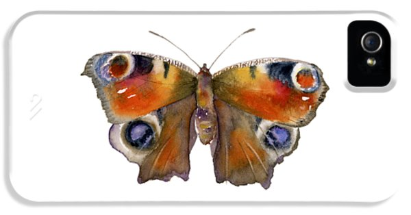 Peacock iPhone 5s Case - 10 Peacock Butterfly by Amy Kirkpatrick