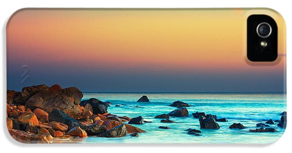 Water Ocean iPhone 5s Case - Sunset by MotHaiBaPhoto Prints
