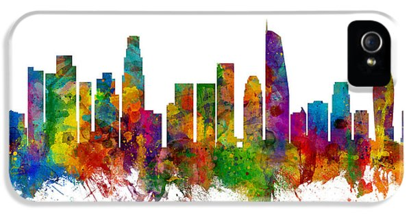 Los Angeles California Skyline IPhone 5s Case by Michael Tompsett