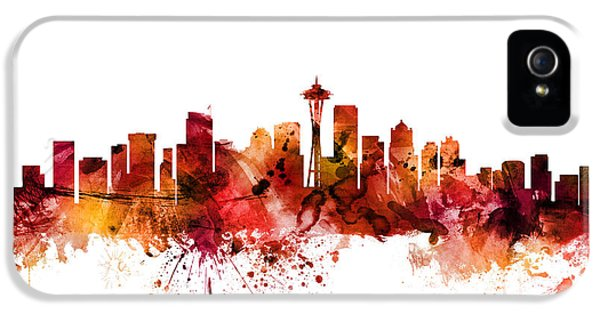 Seattle Skyline iPhone 5s Case - Seattle Washington Skyline by Michael Tompsett