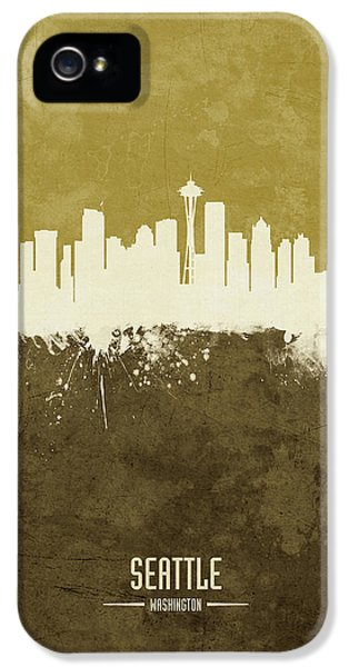 Seattle Skyline iPhone 5s Case - Seattle Washington Skyline by Michael Tompsett