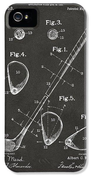 1910 Golf Club Patent Artwork - Gray IPhone 5s Case