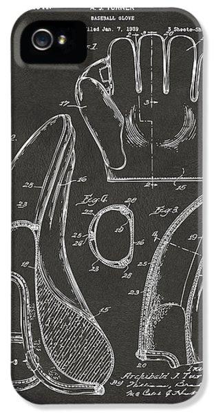 1941 Baseball Glove Patent - Gray IPhone 5s Case