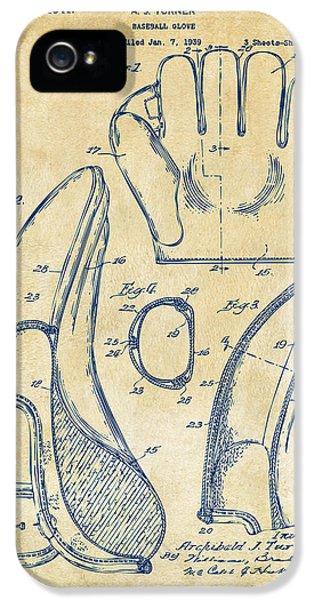 1941 Baseball Glove Patent - Vintage IPhone 5s Case