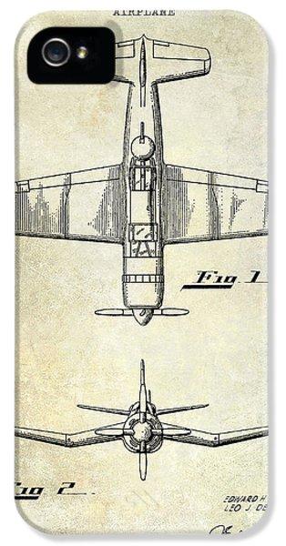 Airplane iPhone 5s Case - 1946 Airplane Patent by Jon Neidert