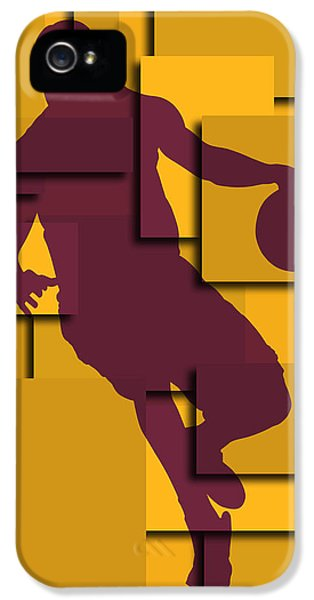 Cleveland Cavaliers Lebron James IPhone 5s Case by Joe Hamilton