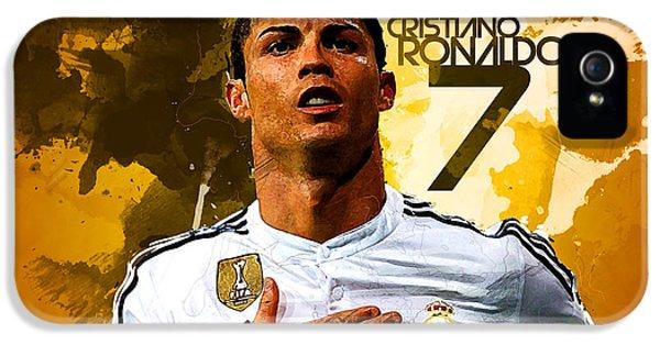 Cristiano Ronaldo IPhone 5s Case by Semih Yurdabak