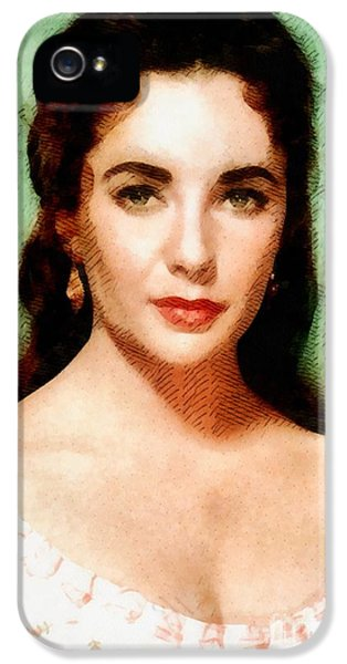 Elizabeth Taylor Hollywood Actress IPhone 5s Case by John Springfield