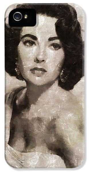 Elizabeth Taylor, Vintage Hollywood Legend By Mary Bassett IPhone 5s Case by Mary Bassett