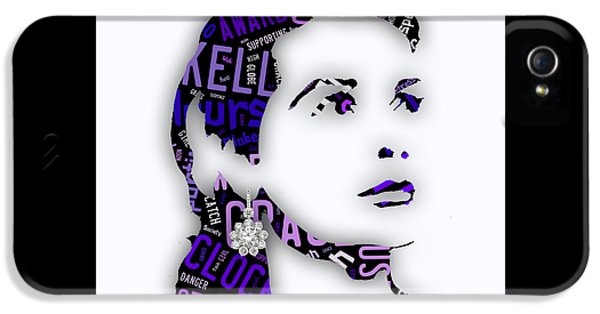 Grace Kelly Movies In Words IPhone 5s Case by Marvin Blaine