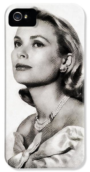 Grace Kelly, Vintage Hollywood Actress IPhone 5s Case by John Springfield
