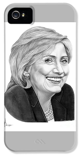 Hillary Clinton iPhone 5s Case - Hillary Clinton by Murphy Elliott