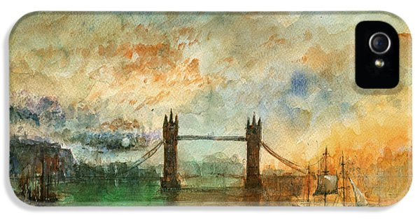 London Watercolor Painting IPhone 5s Case