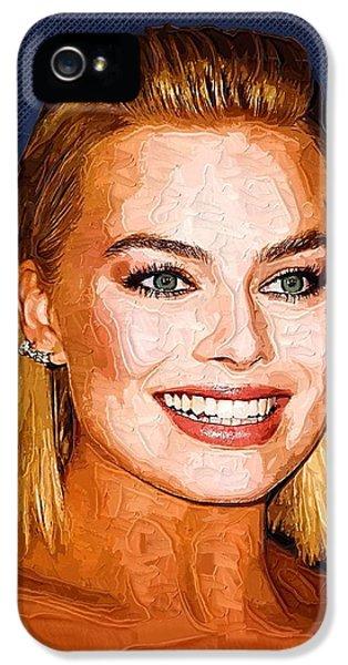 Orlando Bloom iPhone 5s Case - Margot Robbie Art by Elizabeth Simon