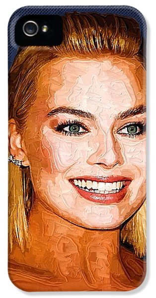 Margot Robbie Art IPhone 5s Case by Best Actors