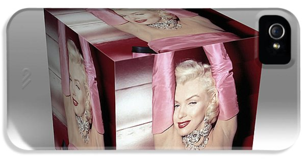 Marilyn Monroe Diamonds Are A Girls Best Friend IPhone 5s Case by Marvin Blaine