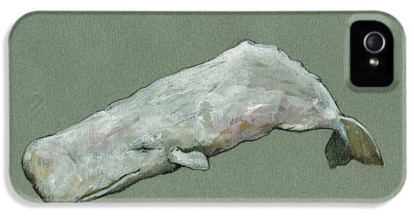 Moby Dick The White Sperm Whale  IPhone 5s Case by Juan  Bosco