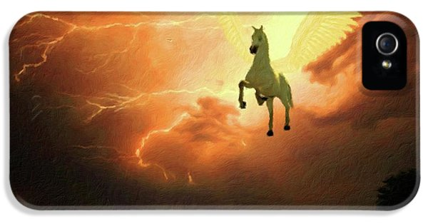 Pegasus iPhone 5s Case - Pegasus By Mary Bassett by Mary Bassett