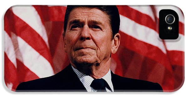 President Ronald Reagan IPhone 5s Case by War Is Hell Store