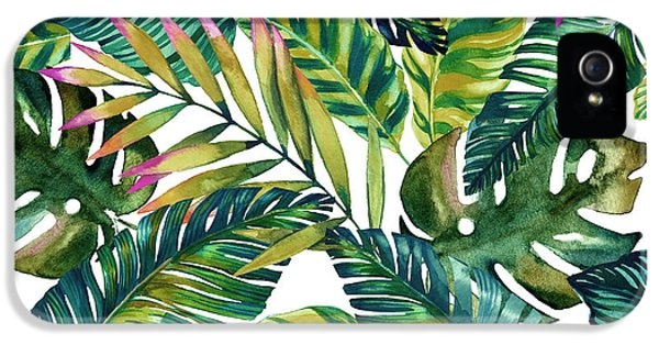 Pattern iPhone 5s Case - Tropical  by Mark Ashkenazi