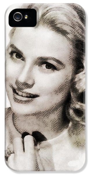 Grace Kelly iPhone 5s Case - Grace Kelly, Vintage Hollywood Actress by John Springfield