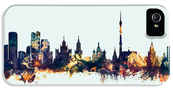 Moscow Russia Skyline IPhone 5s Case by Michael Tompsett