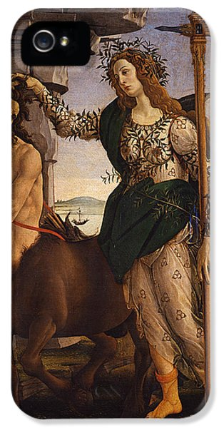 Pallas And The Centaur IPhone 5s Case by Sandro Botticelli