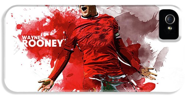 Wayne Rooney iPhone 5s Case - Wayne Rooney by Semih Yurdabak