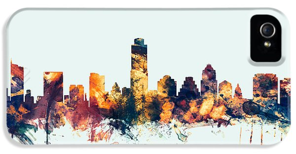 Austin Texas Skyline IPhone 5s Case by Michael Tompsett