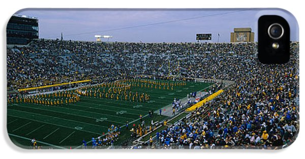 High Angle View Of A Football Stadium IPhone 5s Case by Panoramic Images