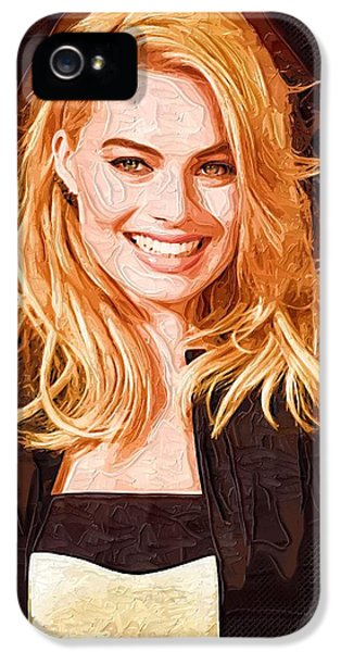 Margot Robbie Painting IPhone 5s Case