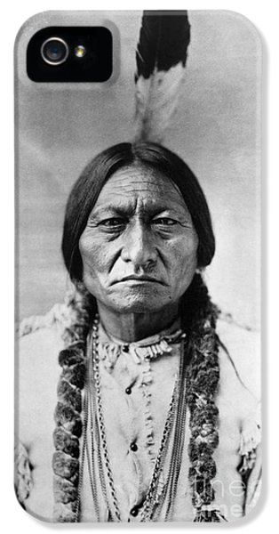 Bull iPhone 5s Case - Sitting Bull 1834-1890. To License For Professional Use Visit Granger.com by Granger
