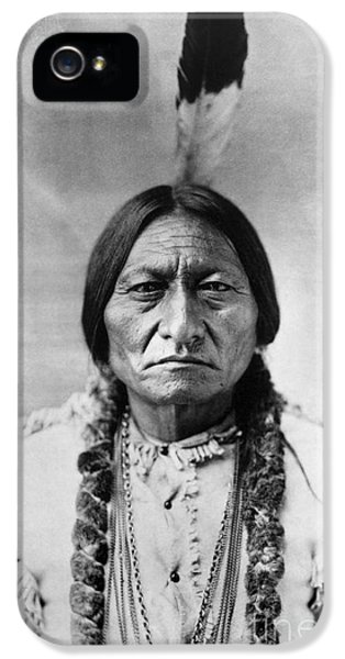 Bull iPhone 5s Case - Sitting Bull 1834-1890. To License For Professional Use Visit Granger.com by Granger