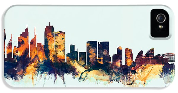 Sydney Australia Skyline IPhone 5s Case by Michael Tompsett