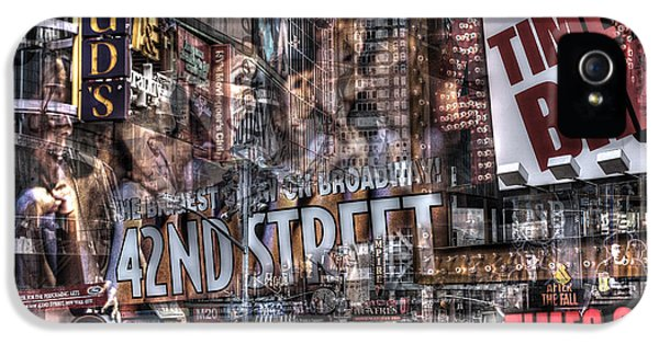 IPhone 5s Case featuring the photograph 42nd Street Times Square 2 by Dave Beckerman