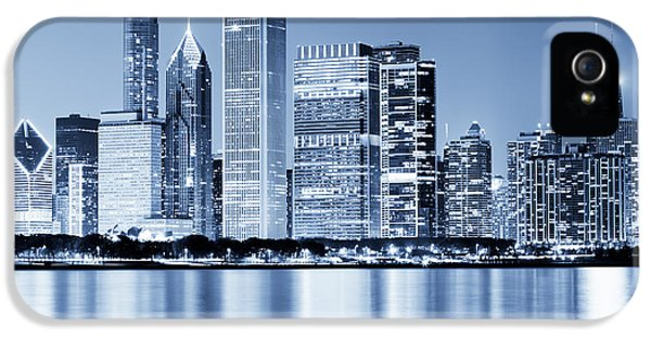 Chicago Skyline At Night IPhone 5s Case by Paul Velgos
