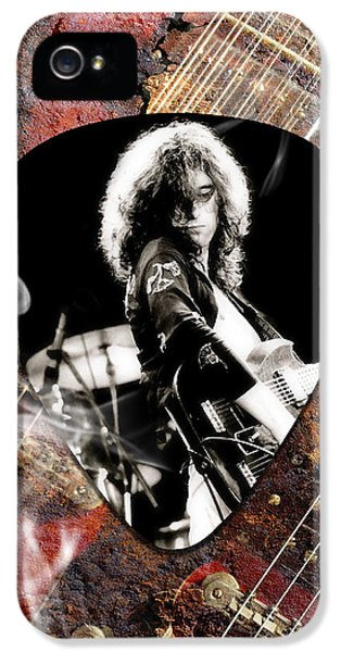 Jimmy Page Art IPhone 5s Case by Marvin Blaine