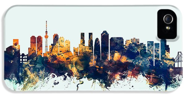 Tokyo Japan Skyline IPhone 5s Case by Michael Tompsett
