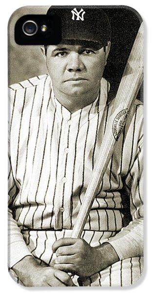 New York Yankees iPhone 5s Case - George H. Ruth (1895-1948) by Granger