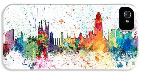 Barcelona Spain Skyline IPhone 5s Case by Michael Tompsett