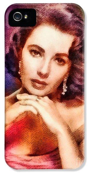Elizabeth Taylor, Vintage Hollywood Legend IPhone 5s Case