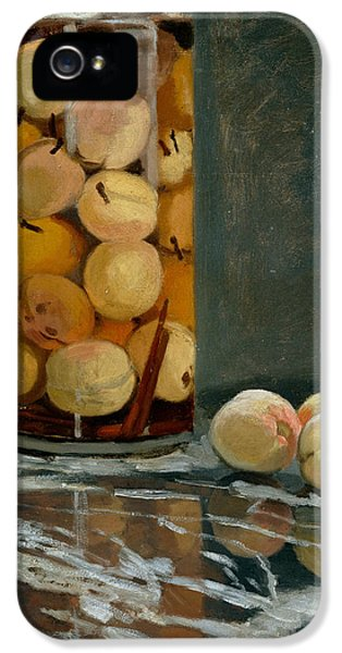 Jar Of Peaches IPhone 5s Case by Claude Monet