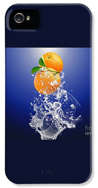 IPhone 5s Case featuring the mixed media Orange Splash by Marvin Blaine