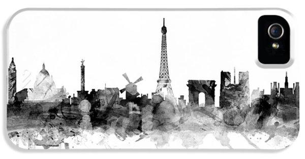 Paris France Skyline IPhone 5s Case by Michael Tompsett