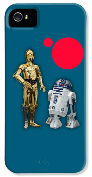 Star Wars C3po And R2d2 Collection IPhone 5s Case by Marvin Blaine