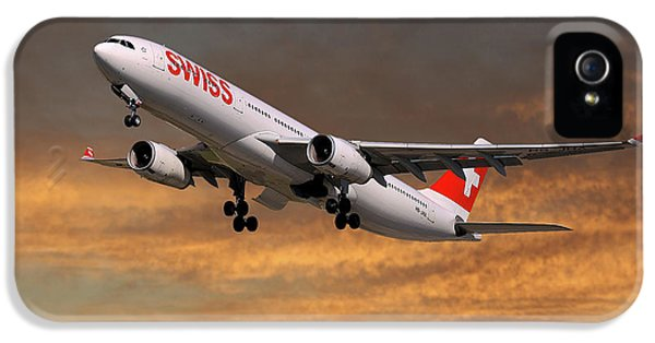 Jet iPhone 5s Case - Swiss Airbus A330-343 by Smart Aviation