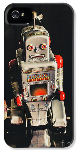 1950s iPhone 5s Case - 70s Mechanical Android Bot  by Jorgo Photography - Wall Art Gallery