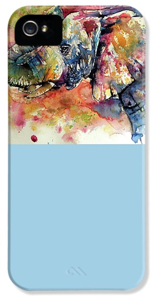 Colorful Elephant IPhone 5s Case by Kovacs Anna Brigitta