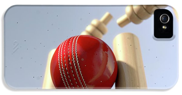 Cricket Ball Hitting Wickets IPhone 5s Case